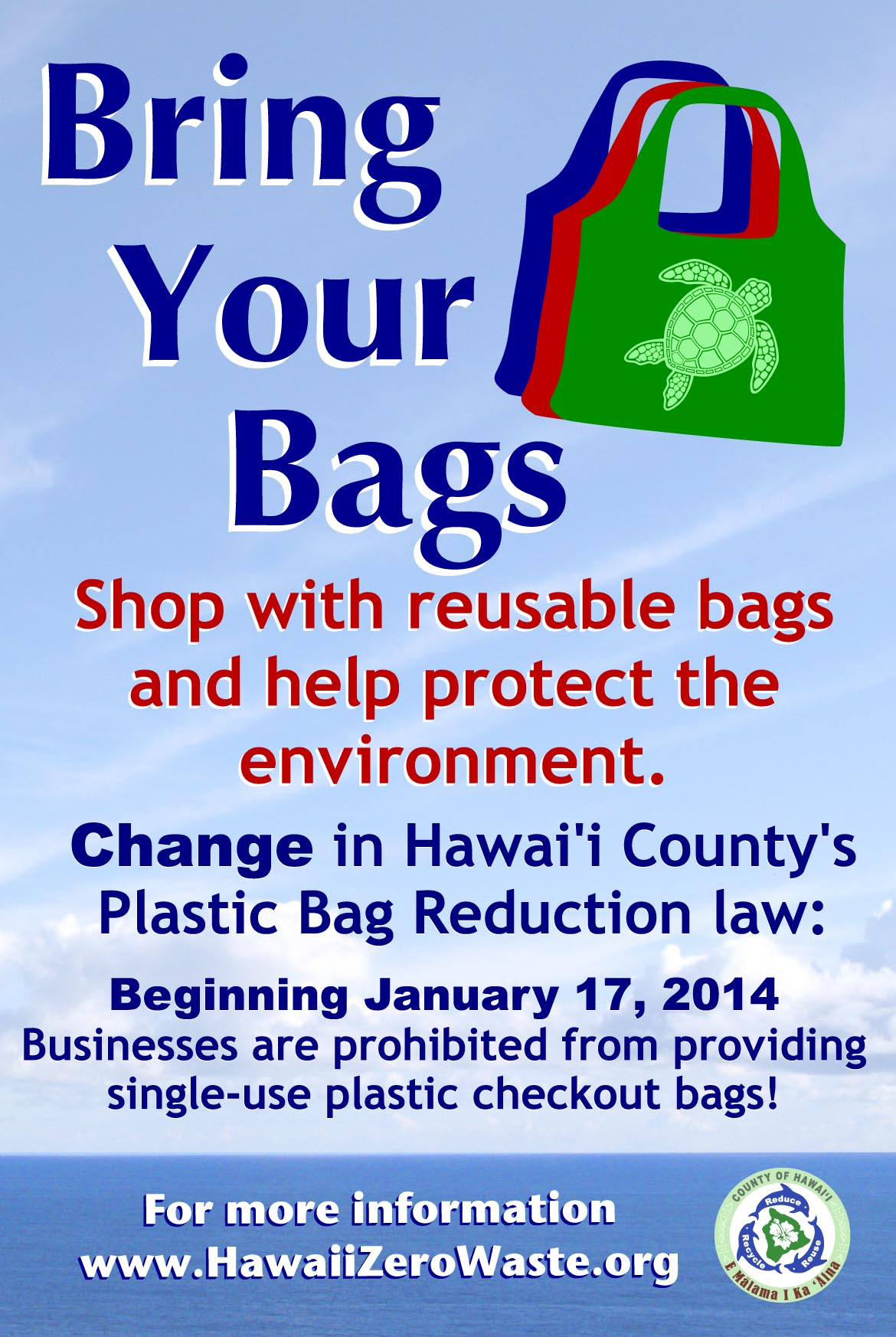 reducing the use of plastic bags I actually went out a couple of days later to get some reusable bags to use for my own shopping unfortunately, i know i won't always remember to bring them with me i also still use plastic.