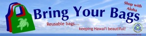 """Bring Your Bags, Shop with Aloha"" Banner"