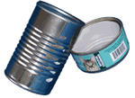 Non-HI-5 aluminum and tin cans