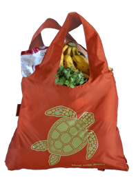 County of Hawai'i Reusable Shopping Bag filled with groceries