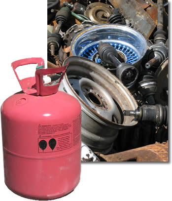 propane tank & metal automotive parts